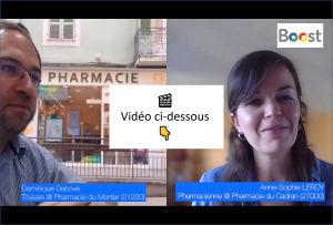 2 pharmaciens échangent sur leur expérience Boost